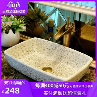 Ceramic lavatory European - style rectangle bathroom art stage basin lavatory sink on its home