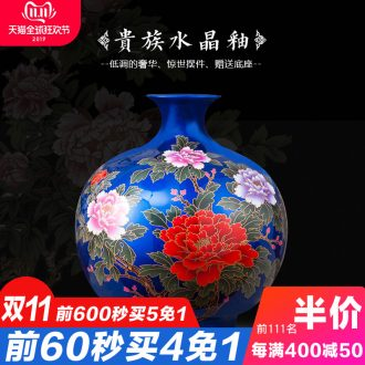 Jingdezhen ceramics, vases, flower arranging is furnishing articles of modern Chinese style crystal glaze home sitting room TV ark, adornment