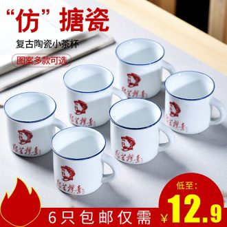 Gorgeous young nostalgic quotations from chairman enamel mugs a liquor cup small mini ceramic tea cup package mail
