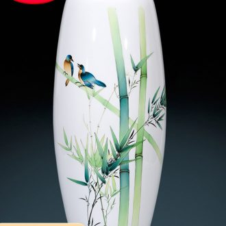 Jingdezhen ceramics furnishing articles hand - made bamboo vases, flower arrangement of the sitting room porch decoration of the new Chinese style household ornaments