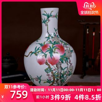 New Chinese style classical jingdezhen ceramics, vases, flower arranging handicraft decorative furnishing articles antique household act the role ofing is tasted