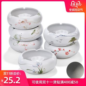 Hong bo acura large KTV rooms move ceramic ashtray ashtray with cover sitting room office can be customized