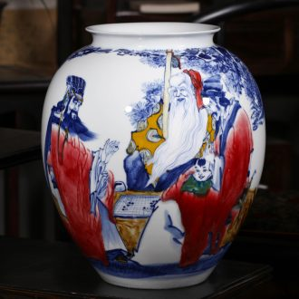 """Jingdezhen ceramic creative up hand - made """"samsung skies"""" sitting room big vase painting and calligraphy barrels of office furnishing articles"""