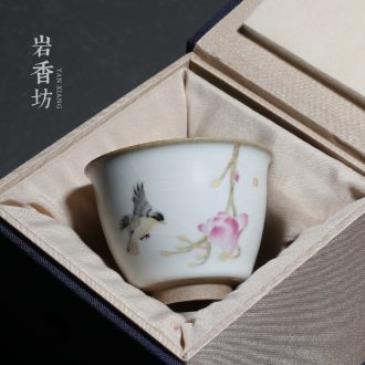 Open the slice YanXiang lane which your up ceramic cups household sample tea cup pay-per-tweet single CPU restoring ancient ways
