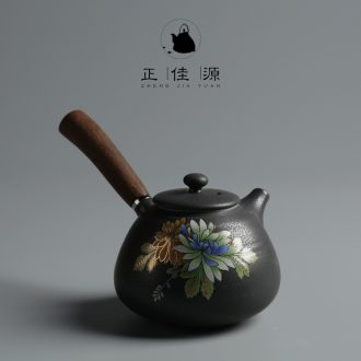 Is good source Japanese creative wooden side spend POTS on the ceramic filtering kung fu tea tea ware up the teapot