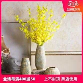 Jingdezhen ceramic vase modern northern dry flower arranging flowers sitting room coarse some ceramic jar of porcelain table decoration restoring ancient ways