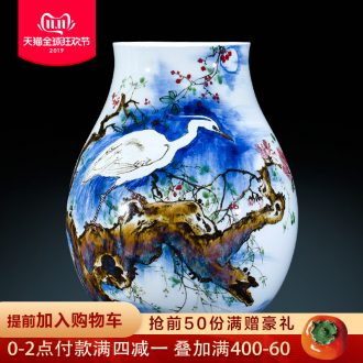 Jingdezhen famous hand - made ceramics up vase lulu rose for the new Chinese style home sitting room adornment is placed