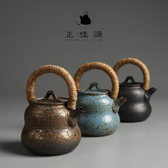 Restoring ancient ways is good source girder pot of coarse pottery teapot kung fu tea set Japanese ceramic tea kettle is single pot of pu - erh tea pot