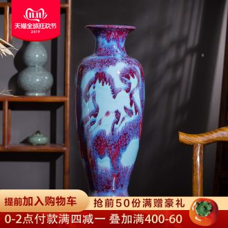 Jun porcelain up jingdezhen ceramics vase success Chinese style living room rich ancient frame furnishing articles home decoration