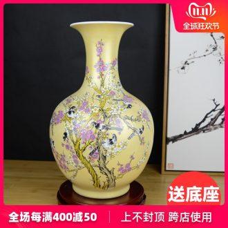 Jingdezhen ceramics powder enamel annunciation vase decoration of modern Chinese style living room home wine ark, adornment furnishing articles