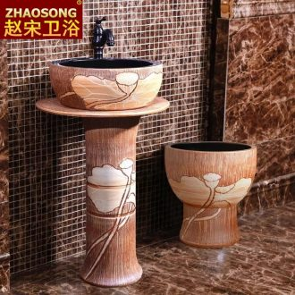 Be born pillar type restoring ancient ways one lavatory household sink ceramic lavabo is suing patio is suing garden