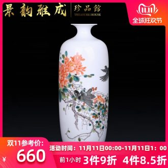 Jingdezhen ceramic Chinese flower arranging vase decoration furnishing articles sitting room porch TV ark, crafts porcelain decoration