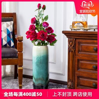 Jingdezhen dried flowers of large vases, ceramic furnishing articles I and contracted decorate suit European large flower arrangement sitting room