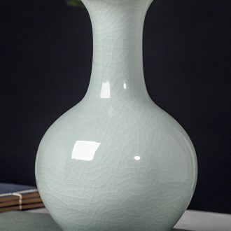 Jingdezhen ceramic vase furnishing articles sitting room of the new Chinese style household flower arranging rich ancient frame wine decorative porcelain arts and crafts