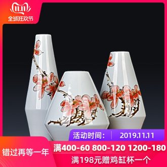 Jingdezhen ceramics hand - made vases three - piece flower arrangement home furnishing articles or restoring ancient ways is the sitting room porch decoration