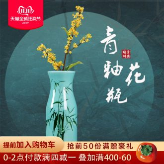 Jingdezhen ceramics hand - made bamboo floret bottle of flower arranging new Chinese style living room porch table decorations furnishing articles