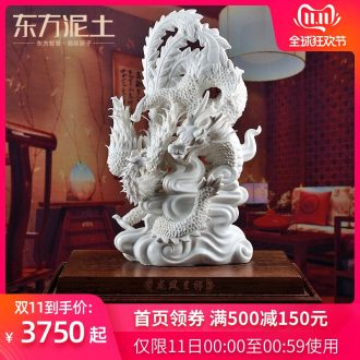 The east mud housewarming auspicious gift porcelain dehua white porcelain its art soft outfit decoration/in extremely good fortune