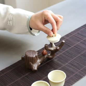 YanXiang fang purple cover buy small place small tea pot holder, ceramic xi tea on the branches of pet accessories