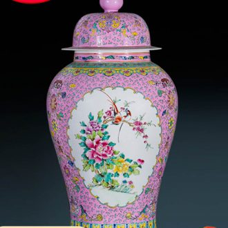Jingdezhen ceramics vase archaize landing the general pot of Chinese style porch decoration as furnishing articles rich ancient frame size
