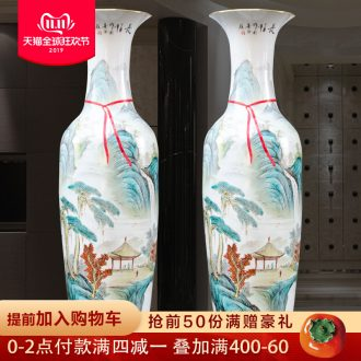 Hand - made jingdezhen ceramics powder enamel has a long history of large vases, Chinese style living room decorations opening furnishing articles
