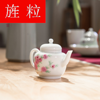 Continuous grain of jingdezhen kung fu tea pure manual household hand - made oleander not purple small palace the lantern single pot of the teapot