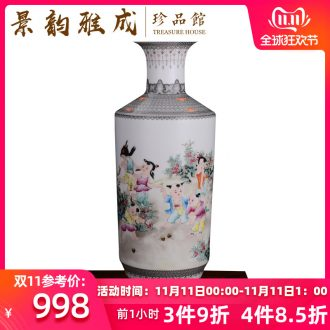 Jingdezhen ceramic hand - made fashion flower vase new sitting room of Chinese style household soft outfit furnishing articles craft ornaments