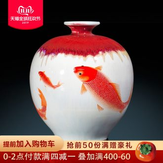 Jingdezhen ceramics archaize of pomegranate vases, flower arranging new Chinese style classical sitting room adornment is placed more every year