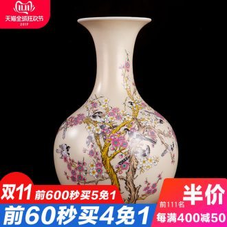 Jingdezhen ceramics powder enamel prosperity all the vases, I sitting room adornment handicraft furnishing articles of TV bar face