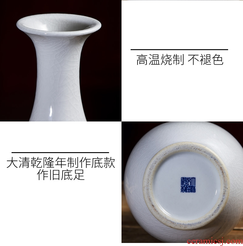 Jingdezhen ceramic vase furnishing articles white porcelain Chinese archaize sitting room ark, porcelain decorations arts and crafts