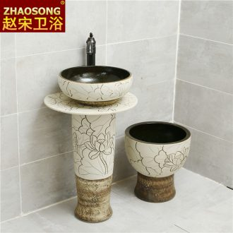 Nordic sink basin of pillar type washs a face ceramic column balcony is suing toilet ground sink basin courtyard
