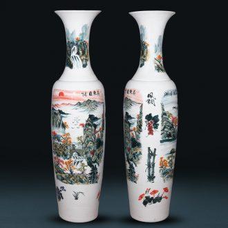Sun dongsheng jingdezhen ceramics hand - made large vases, Chinese style villa hotel opening housewarming gift