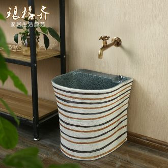 Ceramic basin vintage wash mop mop pool balcony toilet to one small mop pool household mop pool