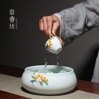 YanXiang fang hand - made loquat large tea wash to ceramic celadon teacup cup for wash wash tea accessories