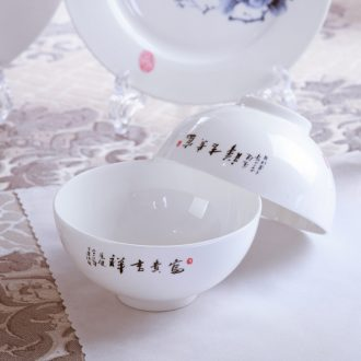 3 jy porringer of blue and white porcelain tableware jingdezhen porcelain ipads ipads ceramic bowls suit Chinese millet rice bowl