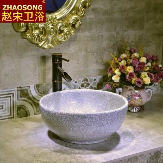 Basin of Chinese style restoring ancient ways small ceramic table 30 cm35cm mini toilet lavabo household creative lavatory
