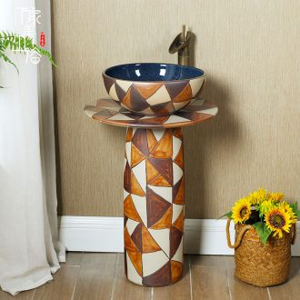 Ceramic sink basin one pillar type restoring ancient ways the lavatory basin toilet vertical column on floor pillar
