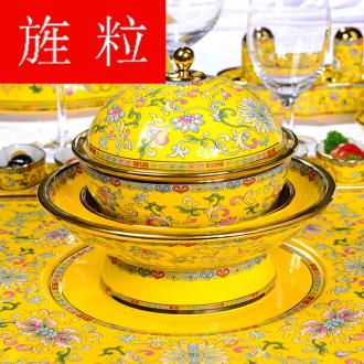 Continuous grain of Gao Chun Ceramics gaochun Ceramics flourishing ruyi family pack