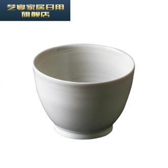 5 XFJ jingdezhen ceramic bowl manual move tableware plant ash glaze household Japanese single pack more jobs