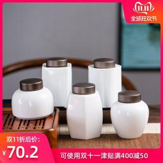 Hong bo acura ceramic tea pot tin cover seal pot cover storage jar Japanese household tea boxes and POTS