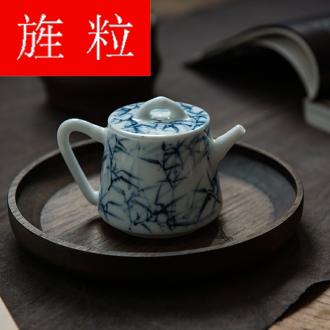 Continuous grain of jingdezhen blue and white porcelain teapot suit kung fu tea set the it household ceramic teapot individual