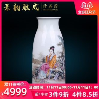 I and contracted hand - made jingdezhen ceramics vase furnishing articles sitting room TV cabinet decorative arts and crafts porcelain restoring ancient ways
