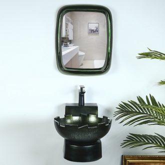 Hang a wall lavatory balcony hanging metal glaze ceramic lavabo small family art basin bathroom sink