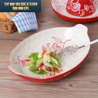 5 yq 【 】 in butterfly Korean dishes suit Japanese household tableware ceramic bowl dish rice bowls rainbow such use