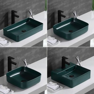 Matte enrolled Nordic stage basin ultra - thin home toilet lavabo, square, single ceramic lavatory basin