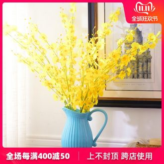European I and contracted vase furnishing articles sitting room dry flower arranging flowers home decoration ceramic flowers money orchid suits for