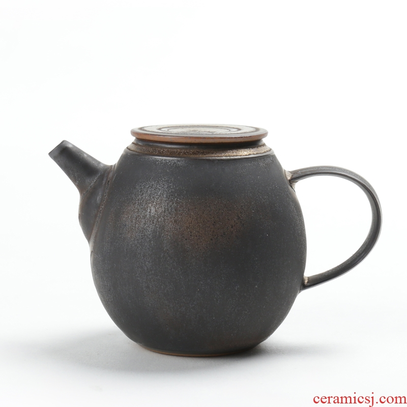 Manual is good source of iron glaze single pot of tea POTS ceramic filtration pot of kung fu tea set gold pot of tea ware