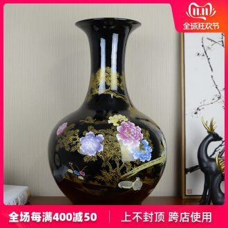 Jingdezhen ceramic large landing new Chinese style household vase in the sitting room porch flower arranging, adornment is placed