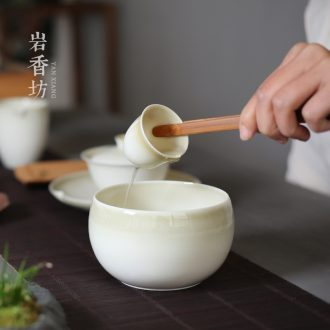 YanXiang fang plant ash ceramic tea cups porcelain wash to kung fu small tea to wash water