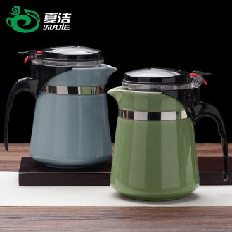 Four - walled yard office elegant cups ceramic filter tank contracted teapot tea of a complete set of kung fu tea set