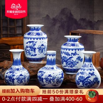 Jingdezhen ceramics antique blue and white porcelain vase lad idea gourd bottle sitting room adornment Chinese TV ark, furnishing articles